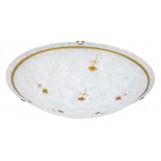 RABALUX 1954 | Art-Flower Rabalux zidna, stropne svjetiljke svjetiljka 3x E27 bijelo alabaster, bronca