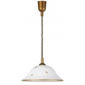 RABALUX 1956 | Art-Flower Rabalux visilice svjetiljka s podešavanjem visine 1x E27 bijelo alabaster, bronca