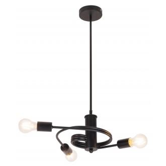 RABALUX 2097 | Carly Rabalux visilice svjetiljka 3x E27 crno mat