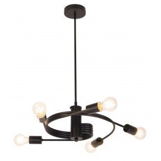RABALUX 2098 | Carly Rabalux visilice svjetiljka 5x E27 crno mat