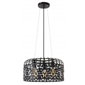 RABALUX 2158 | AlessandraR Rabalux visilice svjetiljka 3x E27 crno mat