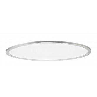 RABALUX 2193 | Taleb Rabalux stropne svjetiljke svjetiljka ovalni daljinski upravljač jačina svjetlosti se može podešavati, sa podešavanjem temperature boje, Bluetooth, noćno svjetlo 1x LED 4800lm 3000 <-> 6500K srebrno, bijelo