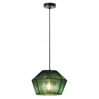 RABALUX 2223 | Arsena Rabalux visilice svjetiljka 1x E27 zeleno, crno