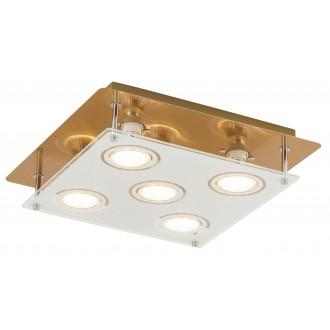 RABALUX 2253 | Naomi Rabalux stropne svjetiljke svjetiljka četvrtast 5x GU10 2000lm 3000K bronca, bijelo