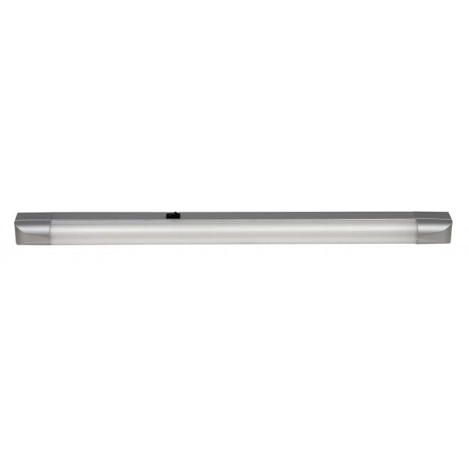 RABALUX 2308 | Band Rabalux osvjetljenje ploče svjetiljka s prekidačem 1x G13 / T8 1350lm 2700K srebrno