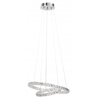 RABALUX 2442 | Carrie Rabalux visilice svjetiljka 1x LED 2700lm 4000K krom, prozirno