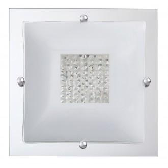 RABALUX 2468 | Deborah Rabalux stropne svjetiljke svjetiljka 2x E27 krom, bijelo, prozirno