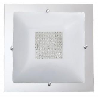 RABALUX 2469 | Deborah Rabalux stropne svjetiljke svjetiljka 3x E27 krom, bijelo, prozirno