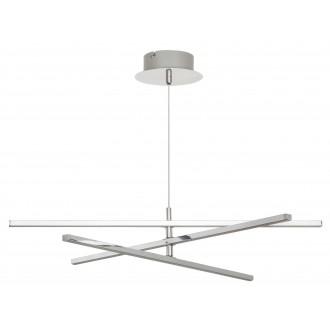 RABALUX 2480 | Meredith Rabalux visilice svjetiljka 1x LED 1500lm 4000K krom, bijelo