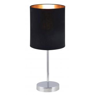 RABALUX 2523 | Monica Rabalux stolna svjetiljka 43cm sa prekidačem na kablu 1x E27 krom, crno, zlatno