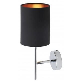 RABALUX 2525 | Monica Rabalux zidna svjetiljka 1x E14 krom, crno, zlatno