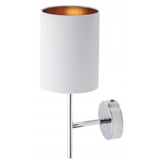 RABALUX 2530 | Monica Rabalux zidna svjetiljka 1x E14 krom, bijelo, zlatno