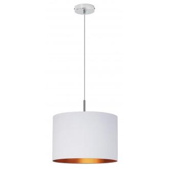 RABALUX 2531 | Monica Rabalux visilice svjetiljka 1x E27 krom, bijelo, zlatno