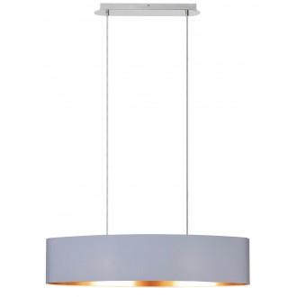 RABALUX 2532 | Monica Rabalux visilice svjetiljka 2x E27 krom, bijelo, zlatno