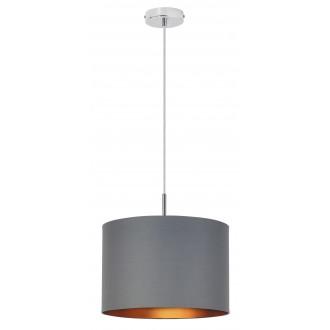 RABALUX 2541 | Monica Rabalux visilice svjetiljka 1x E27 krom, sivo, zlatno