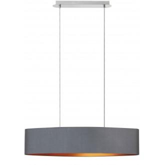 RABALUX 2542 | Monica Rabalux visilice svjetiljka 2x E27 krom, sivo, zlatno