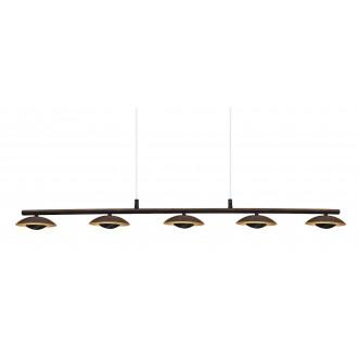 RABALUX 2555 | Brigitte Rabalux visilice svjetiljka 5x LED 2000lm 3000K smeđe, zlatno