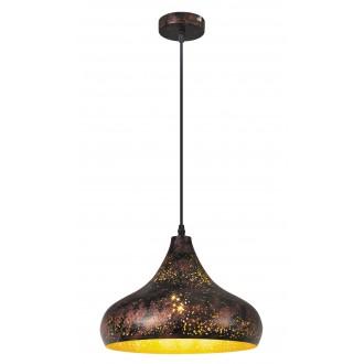 RABALUX 2559 | Shane Rabalux visilice svjetiljka 1x E27 rdža smeđe, zlatno