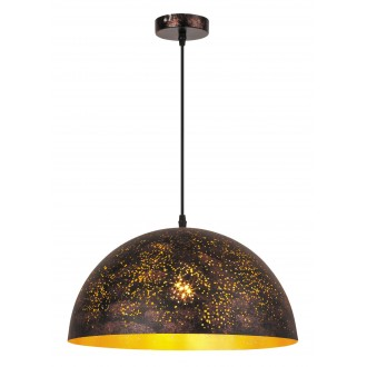 RABALUX 2561 | Shane Rabalux visilice svjetiljka 1x E27 rdža smeđe, zlatno