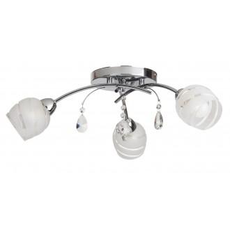 RABALUX 2621 | MelissaR Rabalux stropne svjetiljke svjetiljka 3x E14 krom, bijelo, prozirno
