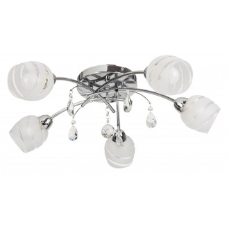 RABALUX 2622 | MelissaR Rabalux stropne svjetiljke svjetiljka 5x E14 krom, bijelo, prozirno