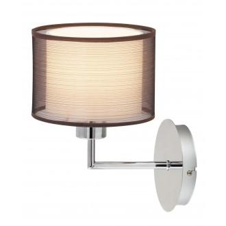 RABALUX 2628 | Anastasia Rabalux zidna svjetiljka 1x E27 krom, smeđe