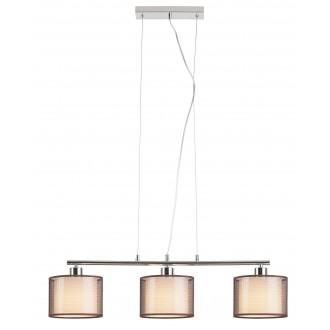 RABALUX 2630 | Anastasia Rabalux visilice svjetiljka 3x E27 krom, smeđe