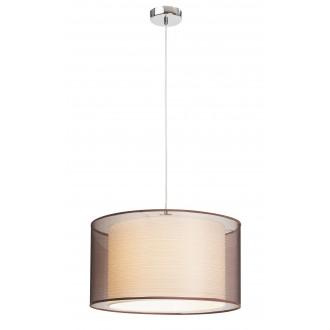 RABALUX 2632 | Anastasia Rabalux visilice svjetiljka 1x E27 krom, smeđe