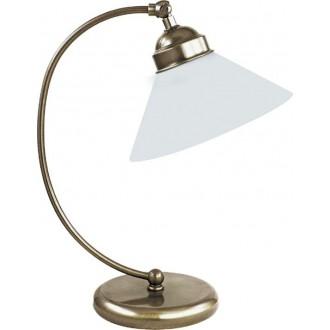 RABALUX 2702 | Marian Rabalux stolna svjetiljka 39cm sa prekidačem na kablu 1x E27 bronca, bijelo