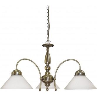 RABALUX 2703 | Marian Rabalux luster svjetiljka 3x E27 bronca, bijelo