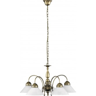RABALUX 2705 | Marian Rabalux luster svjetiljka 5x E27 bronca, bijelo