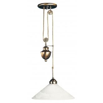 RABALUX 2706 | Marian Rabalux visilice svjetiljka balansna - ravnotežna, sa visinskim podešavanjem 1x E27 bronca, bijelo