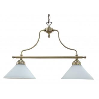 RABALUX 2707 | Marian Rabalux visilice svjetiljka 2x E27 bronca, bijelo