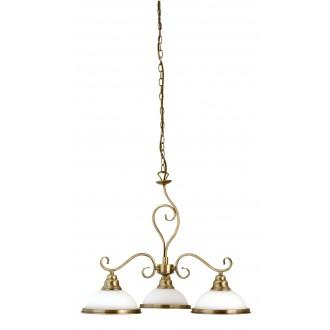 RABALUX 2753 | Elisett Rabalux luster svjetiljka 3x E27 bronca, bijelo
