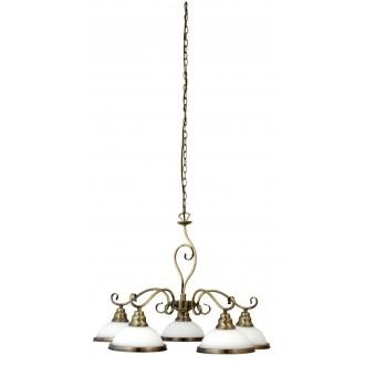 RABALUX 2755 | Elisett Rabalux luster svjetiljka 5x E27 bronca, bijelo