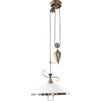 RABALUX 2756 | Elisett Rabalux visilice svjetiljka balansna - ravnotežna, sa visinskim podešavanjem 1x E27 bronca, bijelo