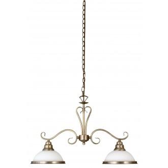RABALUX 2757 | Elisett Rabalux visilice svjetiljka 2x E27 bronca, bijelo