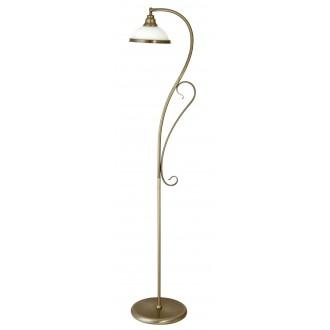 RABALUX 2758 | Elisett Rabalux podna svjetiljka 159cm sa prekidačem na kablu 1x E27 bronca, bijelo
