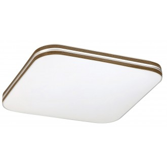RABALUX 2764 | Oscar-RA Rabalux stropne svjetiljke svjetiljka 1x LED 1350lm 4000K bijelo, boja oraha