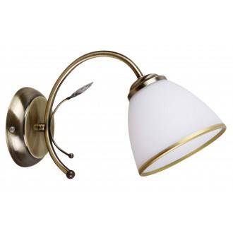 RABALUX 2778 | Aletta Rabalux zidna svjetiljka 1x E14 bronca, bijelo