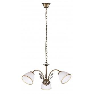 RABALUX 2779   Aletta Rabalux luster svjetiljka 3x E14 bronca, bijelo