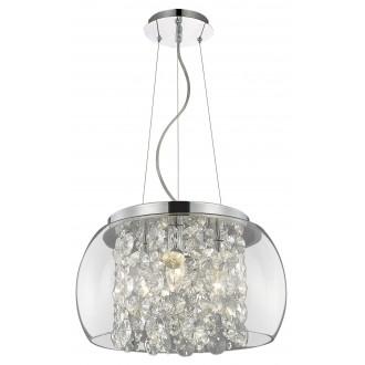 RABALUX 2820 | Brillant Rabalux visilice svjetiljka 3x E14 krom, prozirno