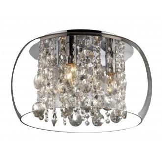 RABALUX 2827 | Brillant Rabalux stropne svjetiljke svjetiljka 3x E14 krom, prozirno