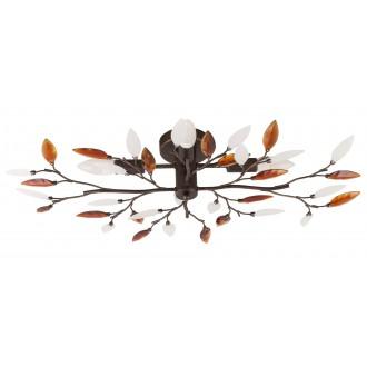 RABALUX 2849 | Lilian Rabalux stropne svjetiljke svjetiljka 4x E14 braon antik, opal, jantar