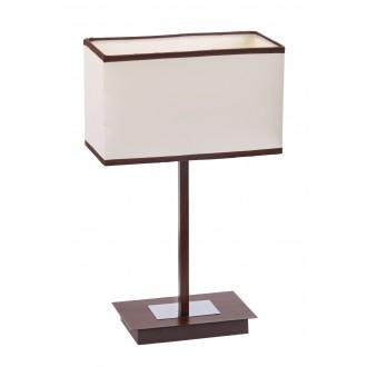 RABALUX 2896 | Kubu Rabalux stolna svjetiljka 44,5cm sa prekidačem na kablu 1x E14 bež, smeđe, venga