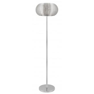RABALUX 2906 | Meda Rabalux podna svjetiljka 164cm sa prekidačem na kablu 2x E27 srebrno