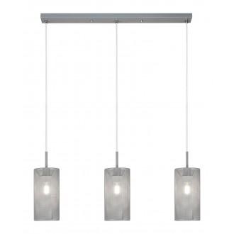 RABALUX 3019 | Callia Rabalux visilice svjetiljka 3x E14 sivo