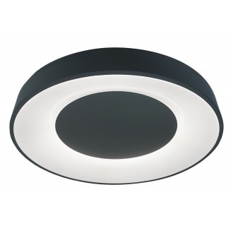 RABALUX 3082   Ceilo Rabalux stropne svjetiljke svjetiljka okrugli daljinski upravljač jačina svjetlosti se može podešavati, sa podešavanjem temperature boje, timer, noćno svjetlo, háttérvilágítás 1x LED 3200lm 3000 <-> 6500K crno, bijelo