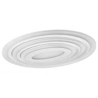 RABALUX 3097 | Taneli Rabalux stropne svjetiljke svjetiljka ovalni daljinski upravljač jačina svjetlosti se može podešavati, sa podešavanjem temperature boje, Bluetooth, noćno svjetlo 1x LED 3053lm 3000 <-> 6500K bijelo