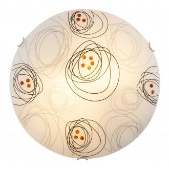RABALUX 3291 | DebbyR Rabalux zidna, stropne svjetiljke svjetiljka 2x E27 bijelo, crno, smeđe